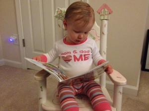 One of my favorite pictures of Delaney reading.