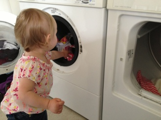 D's first laundry lesson 5-2-13
